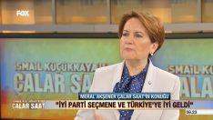 Meral Akşener Fox TV'de konuştu: Yıldırım yayın bitse de gitsek modundaydı!