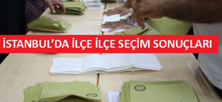 İlçelerin 11'inde AKP birinci parti olurken, 28 ilçe İmamoğlu'nu destekledi