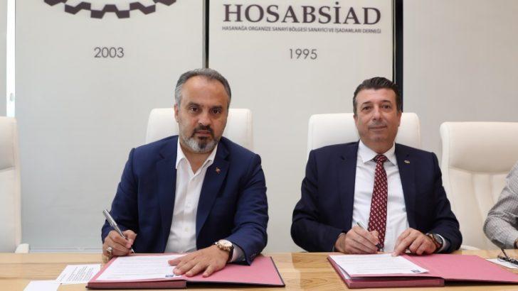 Bursa'da imzalar daha güvenli HOSAB için atıldı