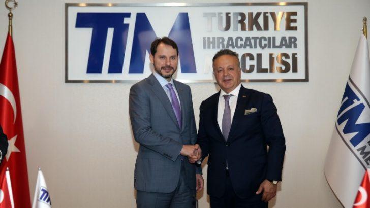 Hazine ve Maliye Bakanı Albayrak'tan TİM'e ziyaret