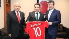 Bursaspor Kulübü Başkanı Mestan'dan, Nihat Özdemir'e ziyaret