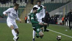 Bursaspor, son dakikada güldü: 2 – 1