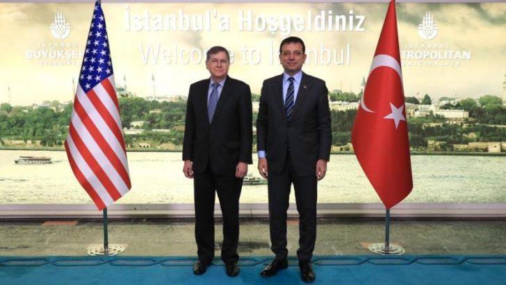 İmamoğlu, ABD Ankara Büyükelçisi Satterfield'ı ağırladı